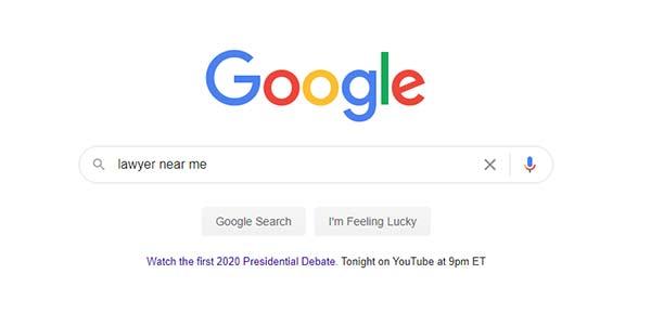 "google local search ""Lawyer near me"""