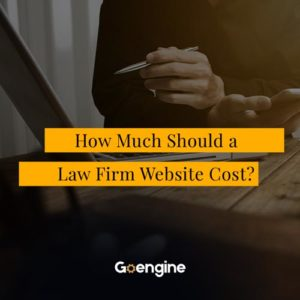 law firm website cost