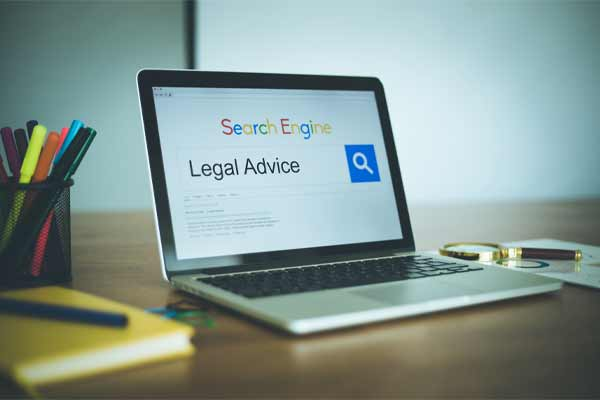 Someone looking for legal advice on a search engine.